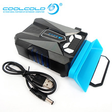 """Ice Troll 5 Intelligent Temperature Control Cooling Fan With LCD Display USB Radiator Notebook Cooler for 14"""" 15"""" 17"""" Laptop"""