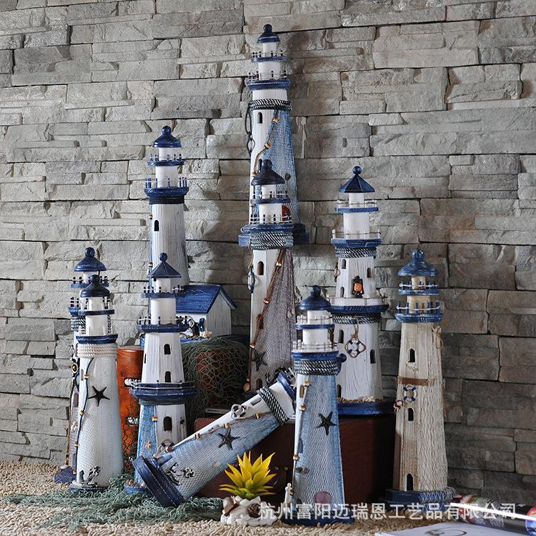 Free Shipping New Mediterranean Style <font><b>Home</b></font> Furnishing ZAKKA <font><b>Home</b></font> <font><b>Decoration</b></font> Lighthouse In Navigation
