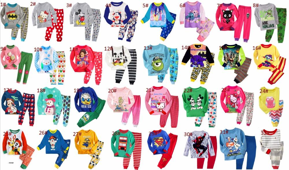 kids pajamas set cotton children sleepwear spring autumn pajamas suit top pants 2 pcs 150