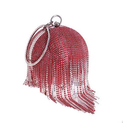 SEKUSA женские вечерние сумки с кисточками и стразами, женские сумочки на плечо с цепочкой, круглые свадебные сумки-клатчи для вечеринок(Китай)