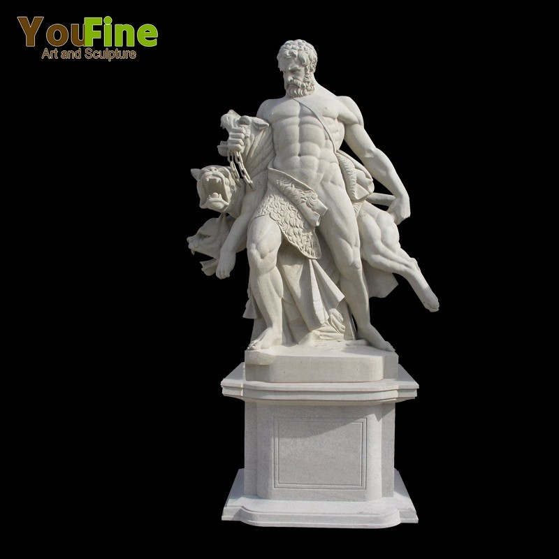 Outdoor Hand Carved Greek Stone Marble Statue Of Poseidon