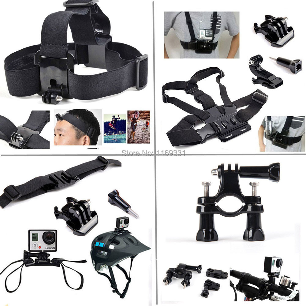 Accessory Black Silver Gopro Hero 4 Kit Outdoor Sports Bundle Kit For Gopro