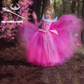 2016 New kids dress Girls Dresses for Baby Children Aurora Princess Dress Toddler Gowns girl party