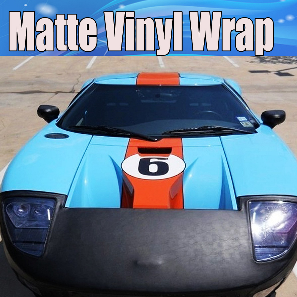 baby Blue Matte Vinyl Wrap Film With Air Bubble Free Matt ...
