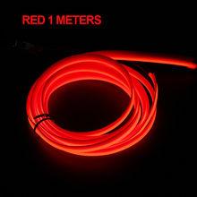 Автомобильный светодиодный светильник, прокладка, интерьерный аксессуар, атмосферный светильник, неоновая EL проводная линия, авто гибкий н...(Китай)