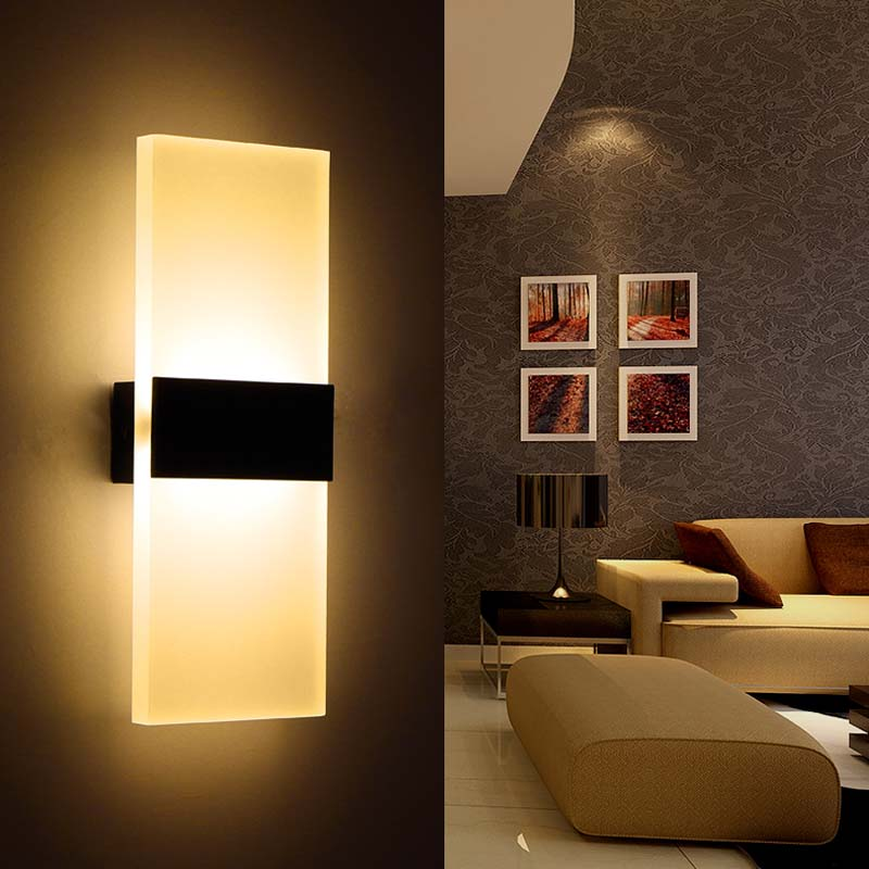 new modern industrial aluminum wall lights ikea kitchen restaurant living bedroom indoor. Black Bedroom Furniture Sets. Home Design Ideas