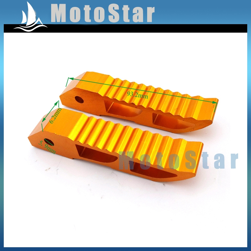 Чпу алюминиевого сплава золота подножки подставкой для ног колышки для 2 ход 47cc 49cc китайский Minimoto карманный велосипед мини-мото грязезащищенная