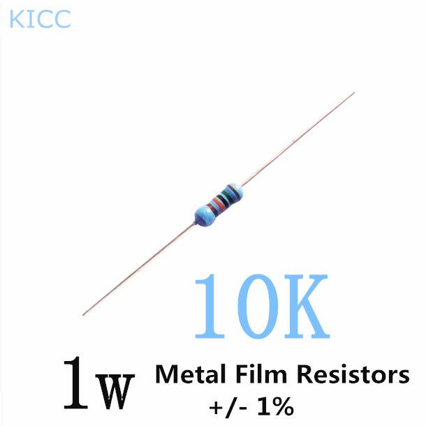 Aliexpress Com Buy 1w 10k Ohm 1 Metal Film Resistor 1w