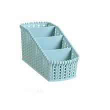 Ротанговая коробка для хранения косметики пластиковый органайзер для макияжа домашний офисный стол хранение Кисти держатель Чехол Корзин...(Китай)