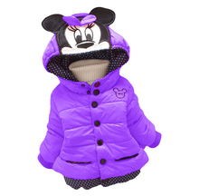 Hot !!! baby winter children Coats,New style Minnie long-sleeved coat girl's warm coat baby jacket free shipping