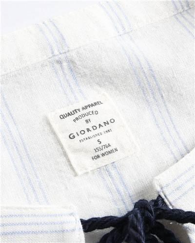 Acheter Giordano Femmes Robe Chemisier Cordon Puff Manches Qualité ... ca8f6b4a68f7