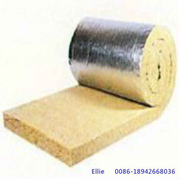 Rock Wool Blanket Roll With Aluminium Foil On One Side