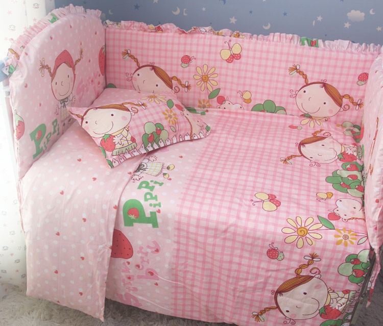 Promotion 7pcs Baby bedding sets Bed set in the Bed linen bumper duvet matress pillow