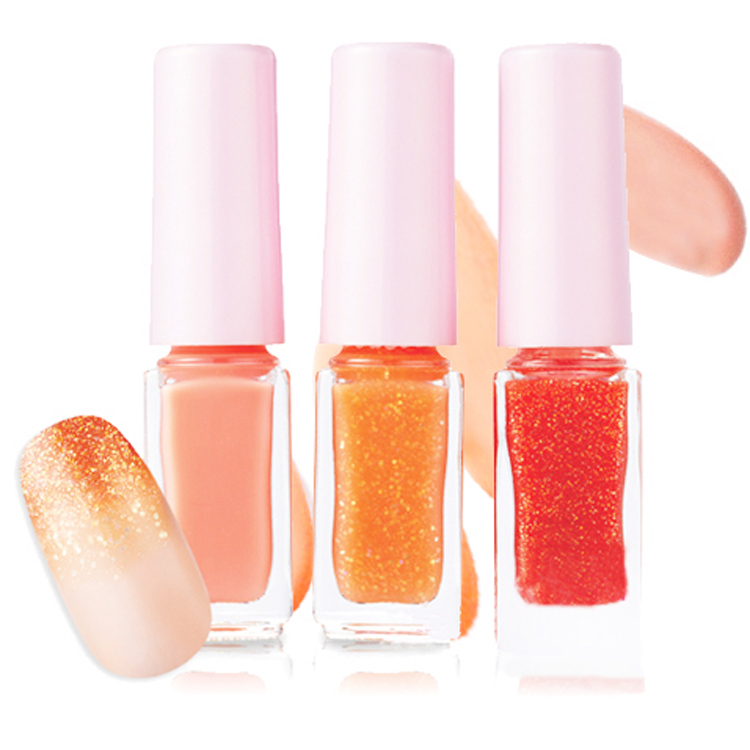 Brand Nail Polish 3pcs set Quick Dry Gradual Change Vernis Nail Polish Lot Glitter Colorful Nail