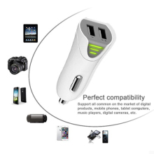 Free shipping 2.1A Dual USB Car charger adapter with fuse for Samsung Galaxy S5 S4 S3