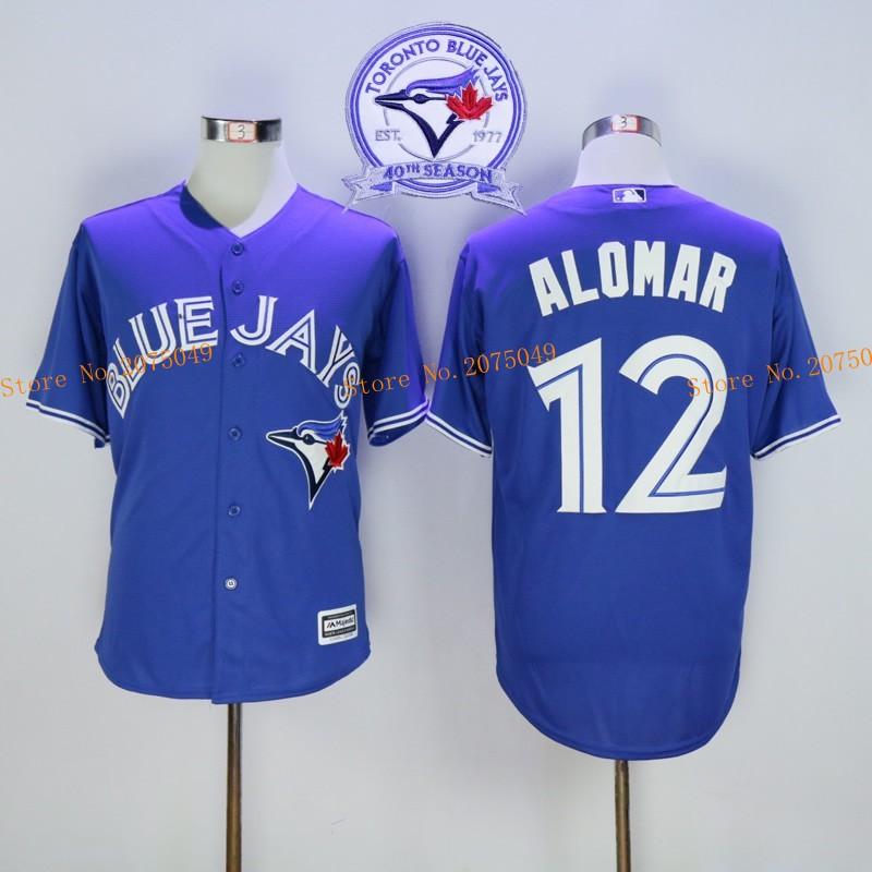 2d8ea2f41a2 2016 New Arrival Mens Cheap Toronto Blue Jays 12 Roberto Alomar Baseball  Jersey Josh Donaldson Toronto Blue Jays Majestic Cool Base ...