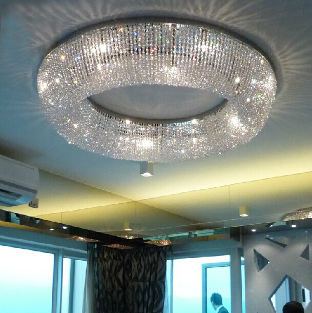 Free Shipping Hot Sale Large Lustre LED Crystal Ceiling