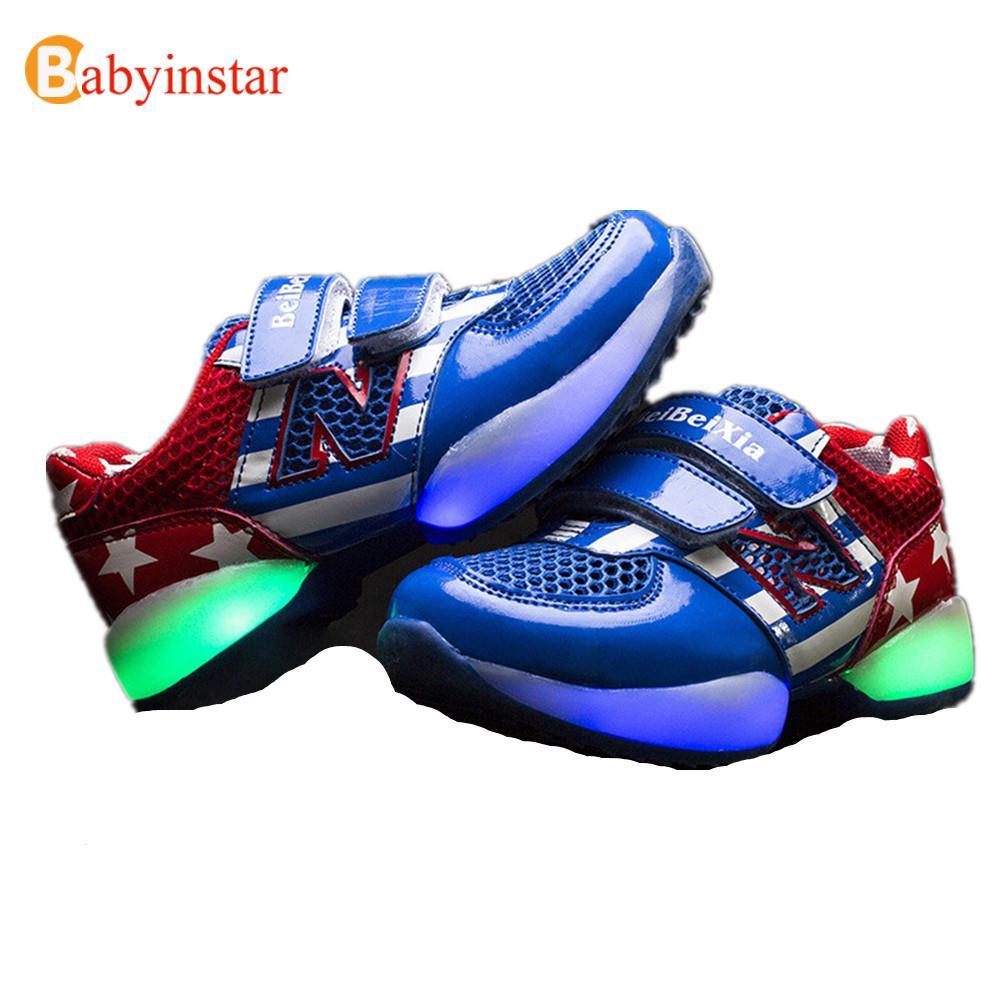 New Arrival Children Sneakers Light For Boys Girls Kids Sport Shoes Spring Autumn Brand Fashion Luminous