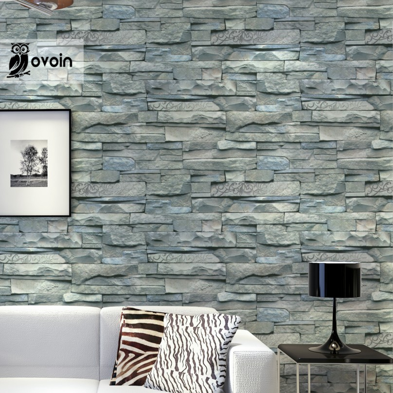 Aliexpress.com : Buy Grey White Embossed Brick Wall