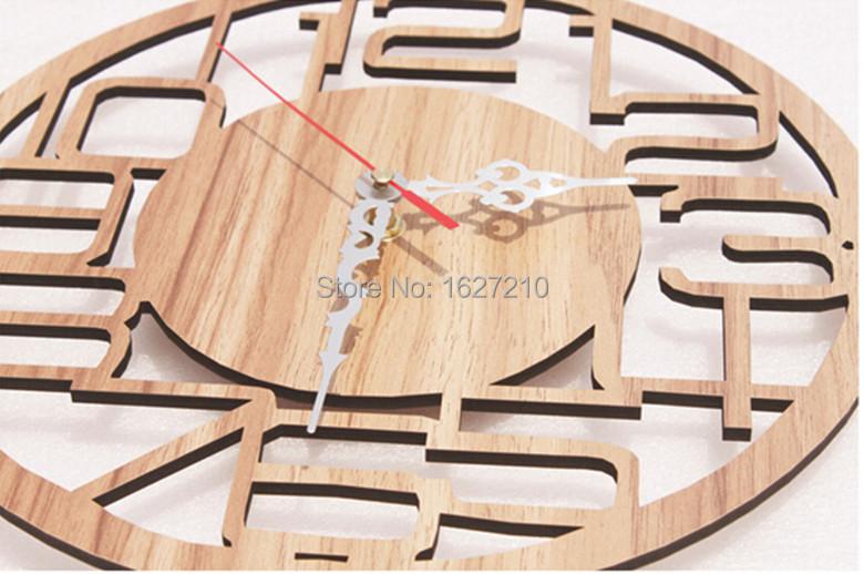 bois horloge murale horloge murale design moderne home decor relogio de parede montre. Black Bedroom Furniture Sets. Home Design Ideas