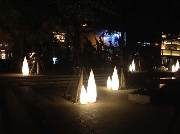 Exterior iluminaci n decorativa luz led punta del palo - Iluminacion led decorativa ...