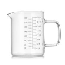 Высокое качество боросиликатного пищевого стекла мерный стаканчик чайник прозрачный молочный стаканчик для выпечки Кухонные аксессуары DA(Китай)