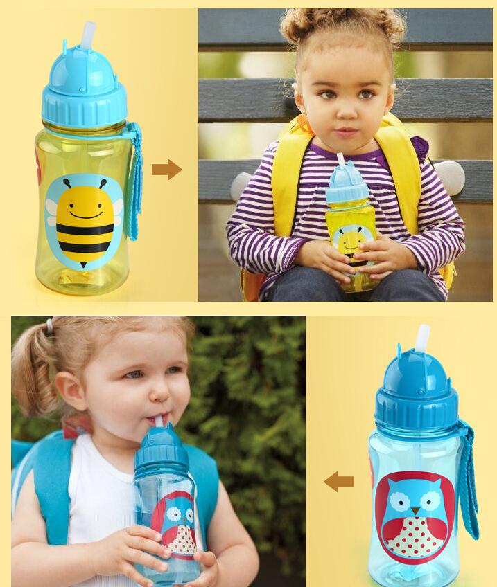 Тритан нет BPA 350 мл америка дети дети изучать пить чашки бутылка животное зоопарк ( божья коровка сова собака bee mokey )