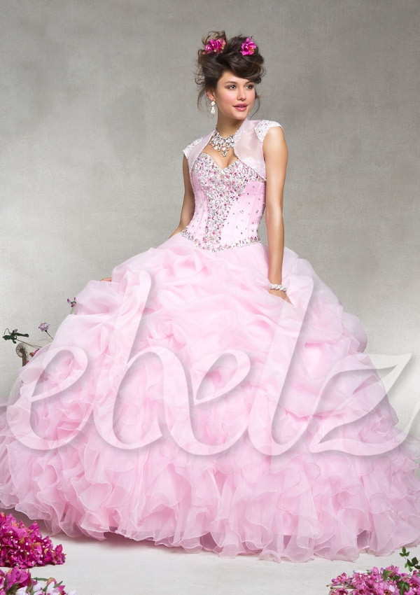 Quinceanera Dres...Light Pink Puffy Quinceanera Dresses