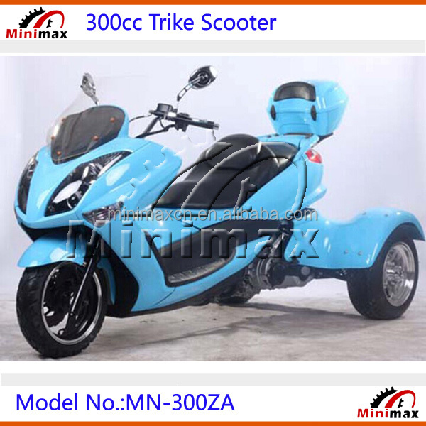 300cc gas tricycle scooter 3 wheel scooter with cvt clutch automatic gears buy trike. Black Bedroom Furniture Sets. Home Design Ideas
