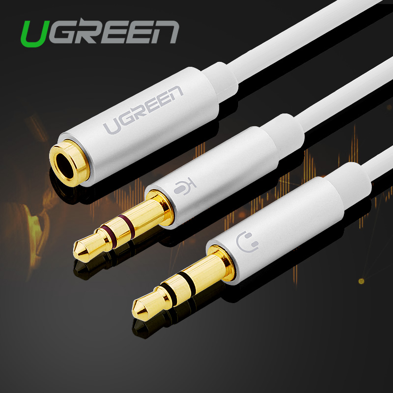 Nice Jack 3.5mm Y Splitter Lovers Adapter Headset Earphone Audio Cable1 Female To 2 Male For Cord Laptop Phone Headset Sale Price Accessories & Parts