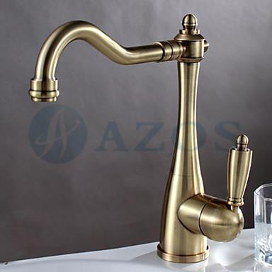 kitchen basin taps golden gold vintage rotatable hose spray single handle nickle brushed antique. Black Bedroom Furniture Sets. Home Design Ideas