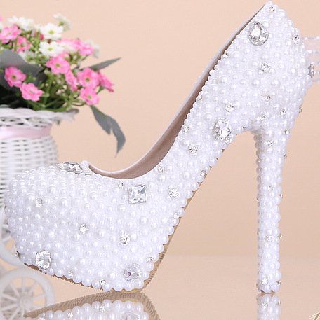 Pearl White Wedding Shoes
