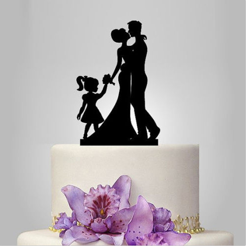 Wedding Cake Topper Bride Groom And Child