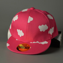 Hat Print Hot Sale New 2016 Children Adjustable Snapback Caps Out Lovely Small Cloud Leisure Bone