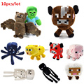 Minecraft plush toy Brinquedos Game Toys Cheapest Sale High Quality Plush Toys Cartoon Game Toys 10pcs
