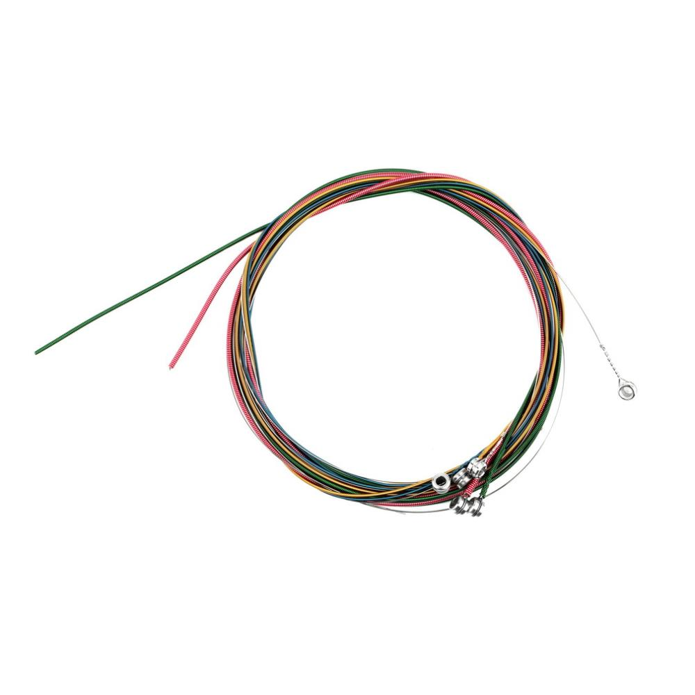 2016 multi color 1 6 e b g d a e rainbow colorful strings set for acoustic guitar new arrival in. Black Bedroom Furniture Sets. Home Design Ideas