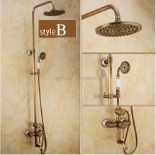 einzigen handgriff messing antik dusche badewanne wasserhahn mischbatterie wandhalterung 8. Black Bedroom Furniture Sets. Home Design Ideas