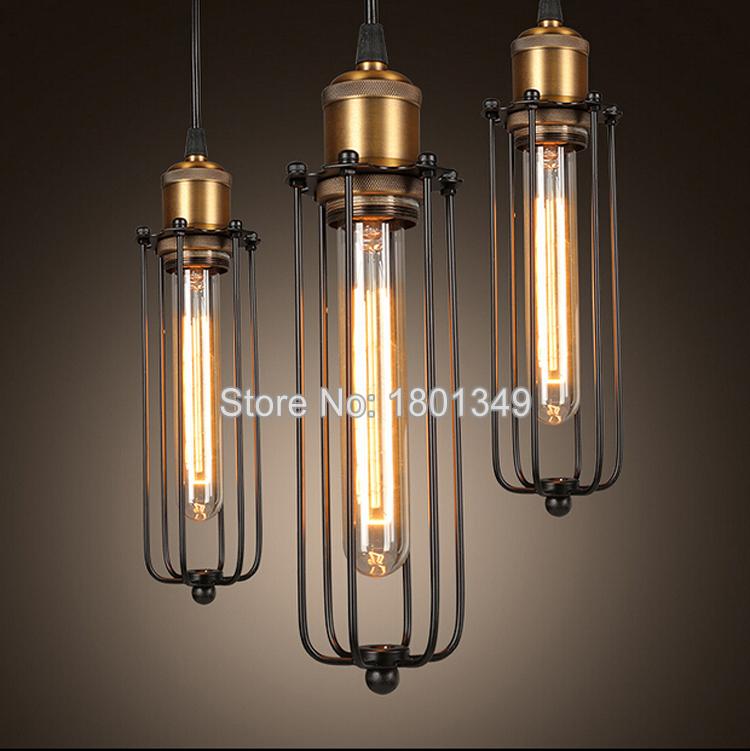 110 240v art deco vintage industrial loft metal cage pendant lights factory wire steel lampshade. Black Bedroom Furniture Sets. Home Design Ideas