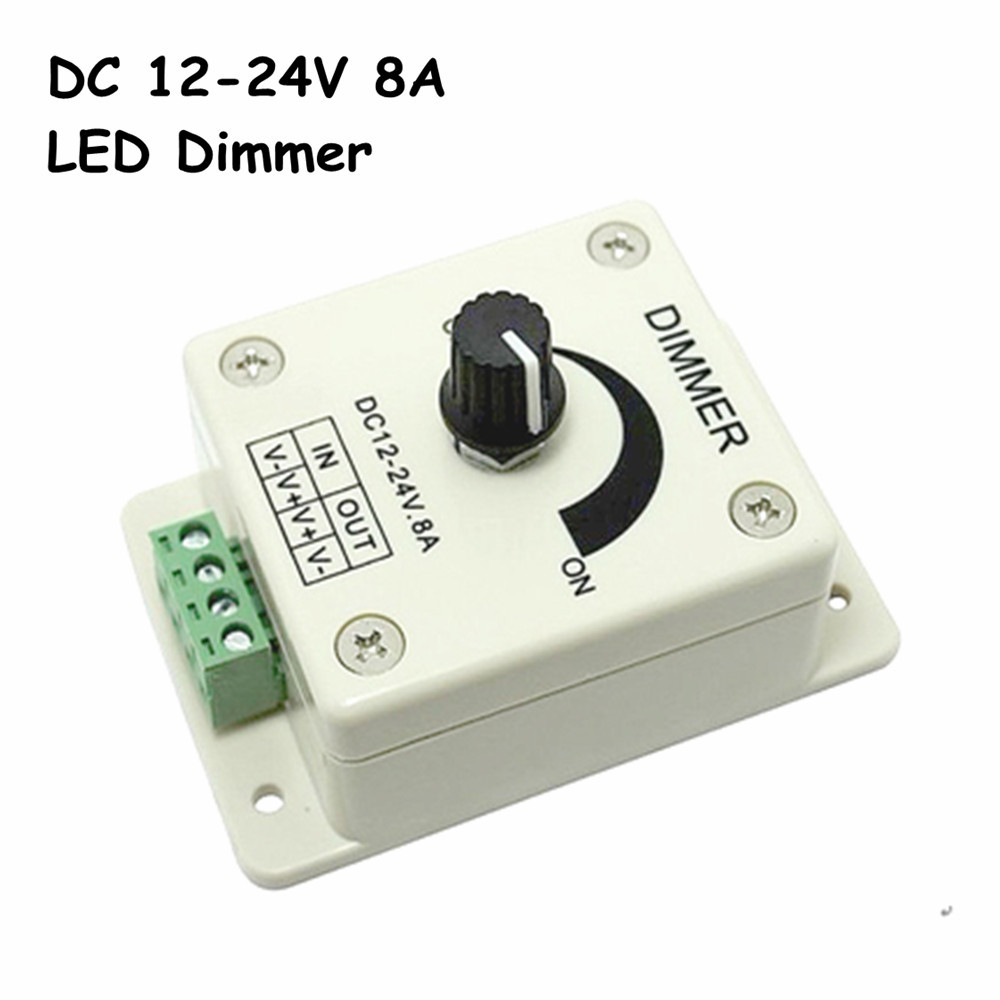 buy free shipping dc12 24v led dimmer knob operated control led dimmer switch. Black Bedroom Furniture Sets. Home Design Ideas