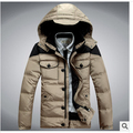 The new winter 2015 men hooded down jacket thick warm casual man winter coat windproof rainproof