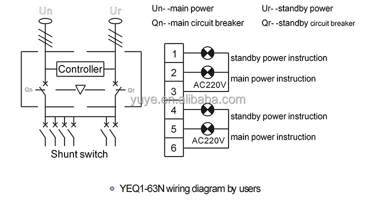 ats 3 phase wiring diagram 240 volt 3 phase wiring diagram yeq1-63n 3 phase automatic transfer switch/automatic ...