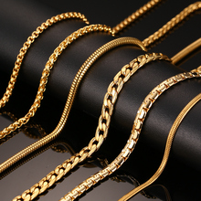 Fashion Silver Filled Necklace For Women Men Stainless Steel Snake Chain 18/20inch Wholesale Costom Jewelry