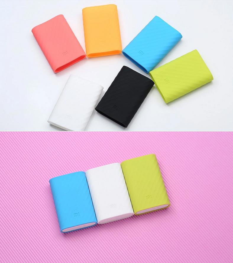 Для Xiaomi 10000 мАч зарядное устройство чехол кожи мягкий силиконовая резина защитное крышка