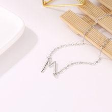 Lukeni модное серебряное ожерелье с подвеской, металлические буквы для ювелирных изделий, персонализированные Резные буквы, одиночное M ожере...(Китай)