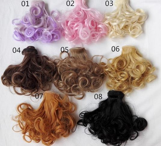 15cm 100cm Pear curls 1 3 1 4 1 6 BJD SD Doll hair DIY doll