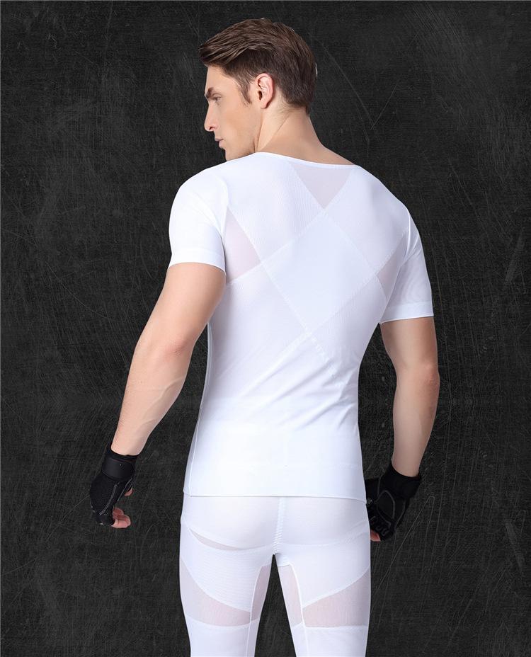 1919132082fb9 2019 Men Chest Shaper Bodybuilding Shirt Corset Male Shaper Leg Panties  Slimming Belly Abdomen Tummy Posture Corrector Compression From Raoken