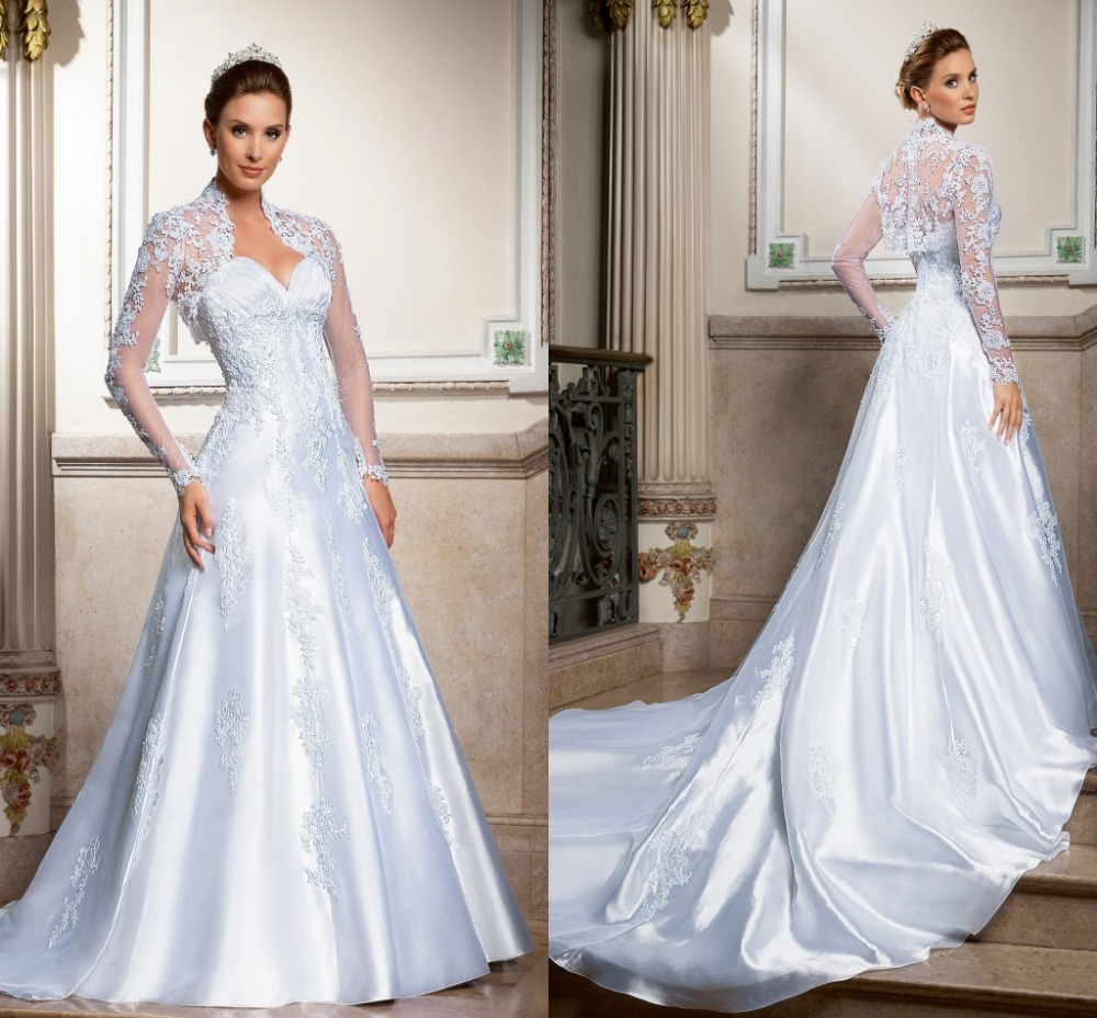 Silk Taffeta Wedding Gowns: 2015 Vintage High End Sweetheart A Line Wedding Dresses