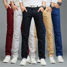 9 colors summer autumn fashion business or casual style pants men slim straight casual long pants fashion multicolor men pants