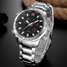 NAVIFORCE военные спортивные часы Для мужчин Элитный бренд цифровой кварцевые часы Для мужчин's Водонепроницаемый Наручные часы Relogio Masculino(China)