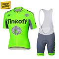 Tinkoff saxo bank 2016 Summer Pro Team Cycling Jersey Fluo Green Breathabl Racing Bicicleta Bike Wear